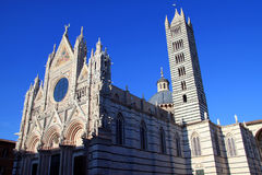 Duomo di Siena n.2. Side view of famous Siena's Dome in Italy Stock Photos