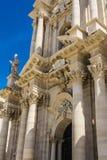 Duomo di Siracusa - catedral católica de Syracuse, Sicilia, Italia Foto de archivo