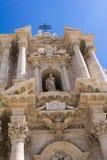Duomo di Siracusa - catedral católica de Syracuse, Sicilia, Italia Imágenes de archivo libres de regalías