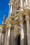 Duomo di Siracusa - Syracuse Catholic Cathedral, Sicily, Italy Stock Photo