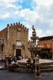 Duomo Di Taormina Stock Afbeeldingen