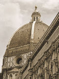 Duomo Dome, Florence, Italy. Mono. Royalty Free Stock Images