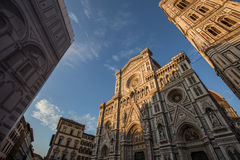 Duomo en Florencia en la puesta del sol Foto de archivo libre de regalías