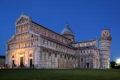 Duomo en Leunende Toren van Pisa Stock Fotografie