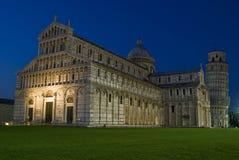 Duomo en Leunende Toren van Pisa Stock Foto's
