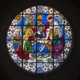 Duomo en verre souillé Florence Images stock