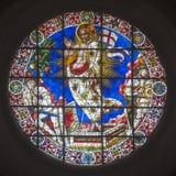 Duomo en verre souillé Florence Photo libre de droits