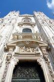 Duomo Facade. A view of the Duomo cathedral facade in Milan, Italy Stock Photos