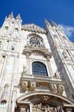 Duomo Facade. A view of the Duomo cathedral facade in Milan, Italy Royalty Free Stock Photo