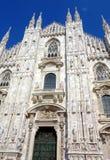 Duomo Facade. A view of the Duomo cathedral facade in Milan, Italy Stock Photography