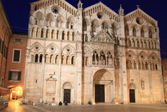 Duomo of Ferrara at night Stock Photo