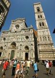 Duomo Firenza i panoramautsikt Arkivbilder