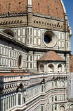 Duomo Firenze. Detailed view of the Renaissance Duomo in the city of Florence, Italy Stock Photography
