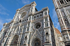 Duomo, Florence. The front of the Cathedral, Florence, Italy royalty free stock image