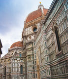 Duomo Florence Cathedral. Italy, Toscana, Florence.Piazza del Duomo and Cathedral Santa Maria del Fiore Royalty Free Stock Photo