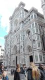 Duomo of florence fantastic afternoon construction in marble stock photography