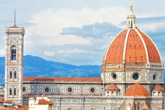 Duomo of Florence with Giotto Beltower Royalty Free Stock Photography