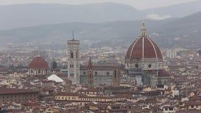 Duomo Florence Italië stock footage