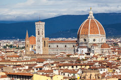 Duomo- Florence, Italy. View of the Renaissance Duomo from Piazzale Michelangelo in the city of Firenze Florence, Italy stock images