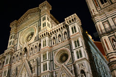 Duomo in Florence at night stock images