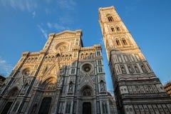 Duomo in Florence at sunset Stock Photos