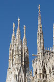 The Duomo, gothic cathedral of Milan Stock Photos
