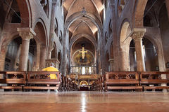 Duomo interior in Modena, Italy Stock Photo