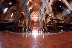 Duomo interior in Modena, Italy Royalty Free Stock Images