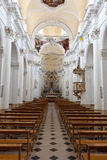 Duomo interior, Noto, Sicilia, Italia Imagen de archivo libre de regalías