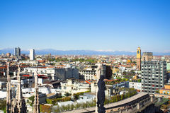 duomo Italy Milan panoramy dach fotografia stock