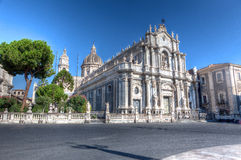 Duomo, katedra, Catania, Sicily, Włochy Obraz Stock