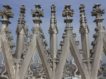 Duomo katedra w Mediolan, architektoniczny szczegół Zdjęcia Royalty Free