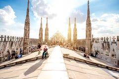 Duomo katedry dach Zdjęcia Royalty Free
