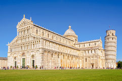 Duomo and the Leaning Tower 1 - Pisa. Pisa Cathedral (Duomo) and the Leaning Tower (Torre Pendente) on the Field of Miracles (Campo dei Stock Photos