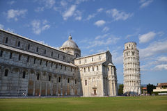 Duomo and Leaning Tower of Pisa Royalty Free Stock Images