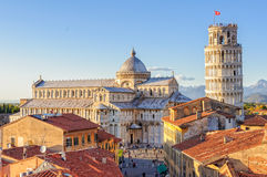 Duomo and the Leaning Tower - Pisa Royalty Free Stock Photography