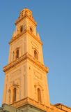 Duomo in Lecce. Duomo tower against blue sky in Lecce, Italy royalty free stock image