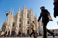 Duomo in Mailand, Italien. Stockbilder