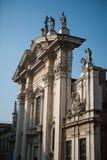 Duomo in Mantua, Italy. The huge facade of the duomo in Mantua, Italy Stock Photos