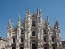 Duomo meaning Cathedral in Milan Stock Image