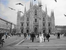 Duomo in Milaan stock foto