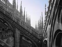 Duomo in Milaan stock afbeelding
