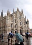 Duomo in Milaan Stock Afbeeldingen