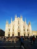 Duomo in Milaan Italië stock afbeeldingen