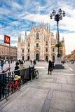 Duomo in Milaan, Italië. Royalty-vrije Stock Fotografie