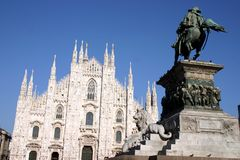 Duomo in Milan. The famous Duomo in Milan, Italy royalty free stock photo