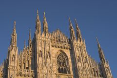 Duomo Milan. Particular details of Milan Cathedral (Dome in Milan Stock Photography