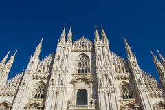Duomo, Milan. Facade of the cathedral located in Milan Royalty Free Stock Image