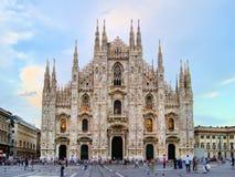 Duomo of Milan. Famous Milan landmark the Duomo, at dusk, Italy Stock Images