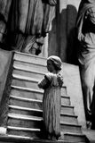Duomo-Milan Bambaia-Künstlerdarstellung Mailand-Lombardei-Italiens am 7. April 2014 von Jungfrau Maria am Tempel Lizenzfreie Stockfotos
